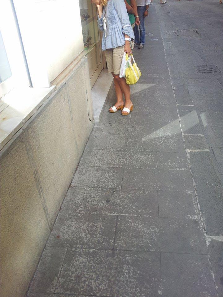 zoccoli tacco-Plateaux profondo estate 2014 bianco